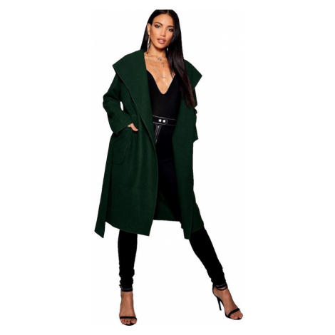 Kabát s kapucňou a opaskom Boohoo