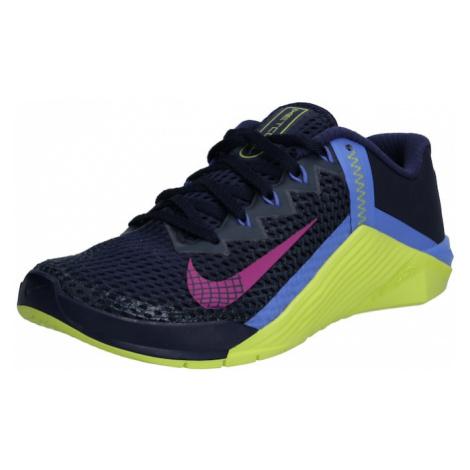 NIKE Športová obuv 'Metcon 6'  kobaltovomodrá / červeno-fialová / ružová / kiwi