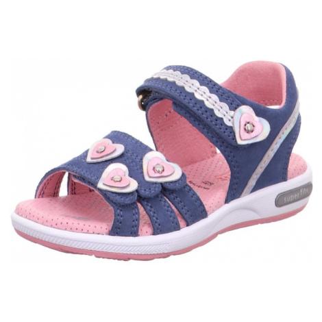 SUPERFIT Sandále 'Emily'  námornícka modrá / svetloružová / strieborná