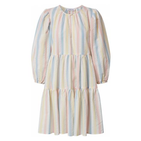 EDITED Šaty 'Joanna'  prírodná biela / ružová / modrá / svetložltá