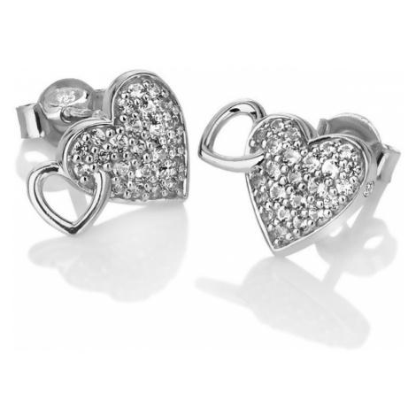 Hot Diamonds Trblietavé náušnice s pravým diamantom Flora DE607