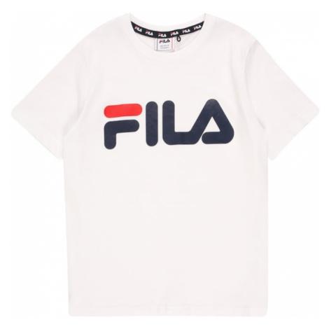 FILA Tričko 'GAIA'  biela / námornícka modrá / svetločervená