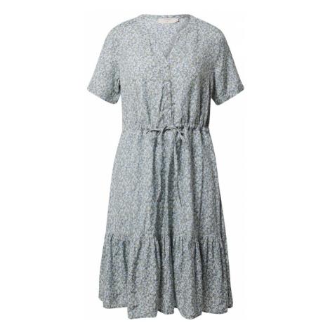 Cream Košeľové šaty 'Julia'  dymovo modrá / biela / mätová