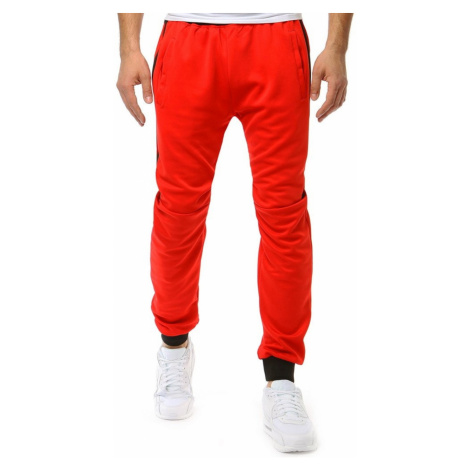 Red men's sweatpants UX1869 DStreet