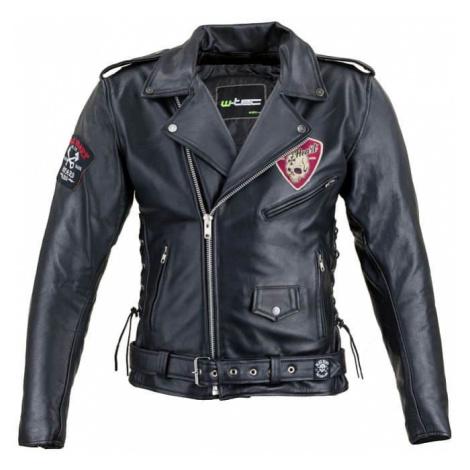 Kožená moto bunda W-TEC Black Heart Perfectis Farba čierna