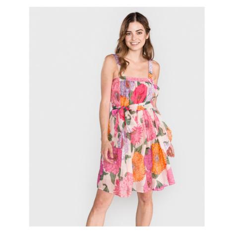 TWINSET Šaty Ružová Viacfarebná
