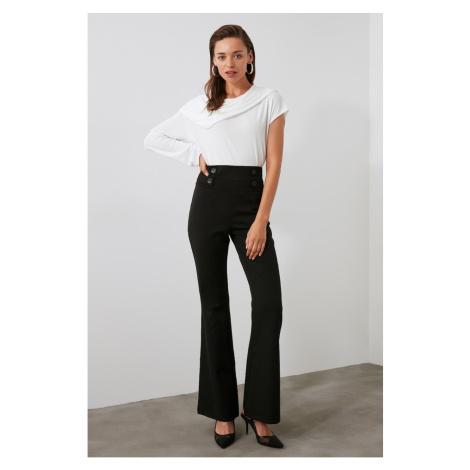 Trendyol Black Button Detailed Pants