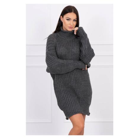 Sweater Turtleneck dress graphite