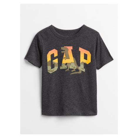 GAP sivé detské tričko Logo v-feb ss ptf gr