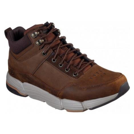 Skechers METCO hnedá - Pánska členková obuv