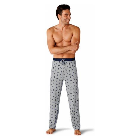 Blancheporte Pyžamové nohavice s pruhmi/s potlačou, rovné nohavice, 2 ks prúžky+potlač ananás