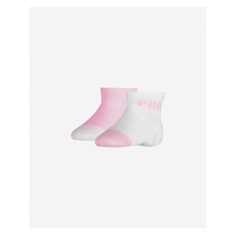 Puma Ponožky 2 páry detské Ružová Biela