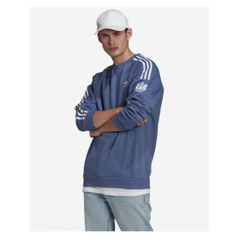 adidas Originals Loungewear Adicolor 3D Trefoil 3-Stripes Mikina Modrá