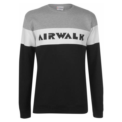 mikina Airwalk Stripe Swt Sn93 Black/Grey