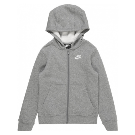 Nike Sportswear Tepláková bunda  biela / sivá