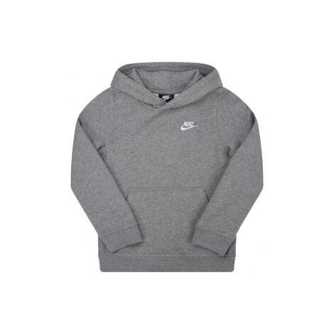 Nike Mikina Sportswear Club BV3757 Sivá Regular Fit