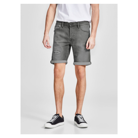 Grey Denim Regular Fit Shorts Jack & Jones Rick
