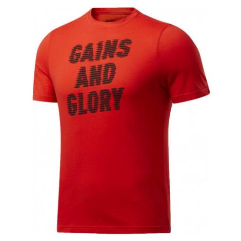 Reebok GS OPP TEE GRAPHIC červená - Pánske tričko