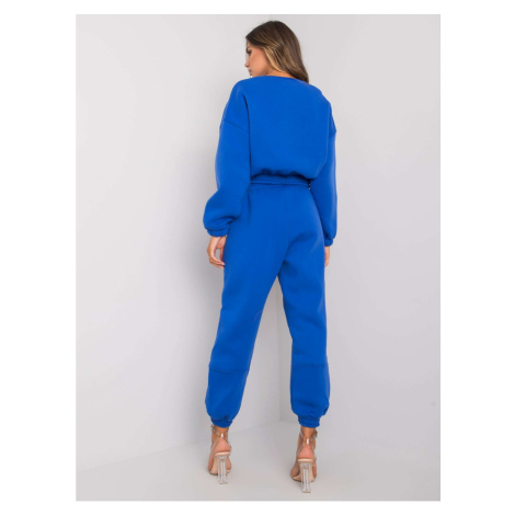 Dark blue women's tracksuit set