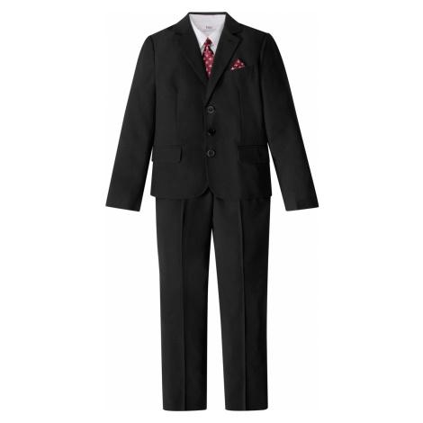 Oblek + košeľa + kravata (4-dielna súprava) bonprix