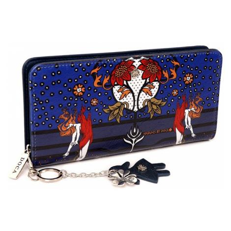 Dámska peňaženka Doca 64843 - modrá