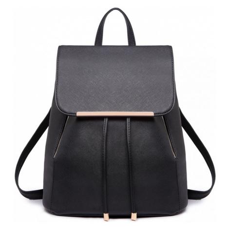 Čierny ruksak z eko kože Zoe