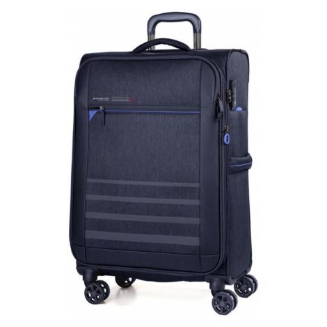 March Textilný cestovný kufor Sigmatic 104/121 l - tmavě modrá
