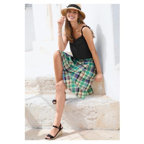 Blancheporte Volánová sukňa s potlačou anízová/zelená