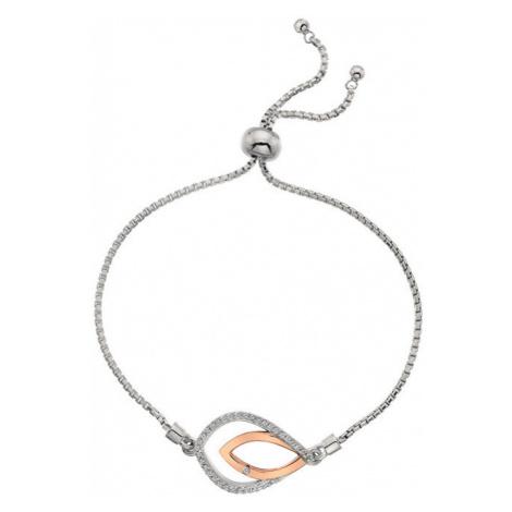 Hot Diamonds Strieborný náramok s pravým diamantom Lily RG DL591