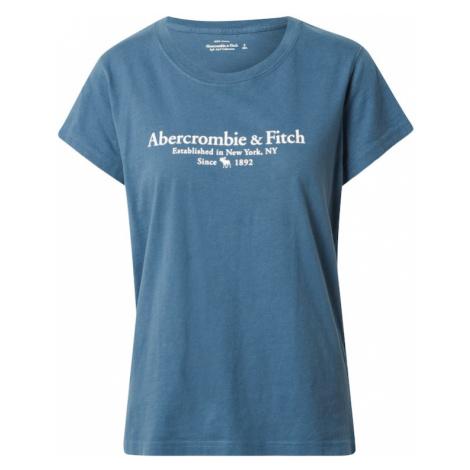 Abercrombie & Fitch Tričko  petrolejová / biela