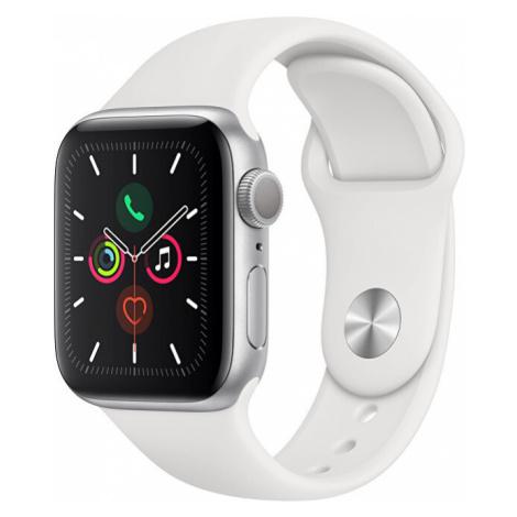 Apple Watch Series 40 mm strieborný hliník s bielym športovým remienkom