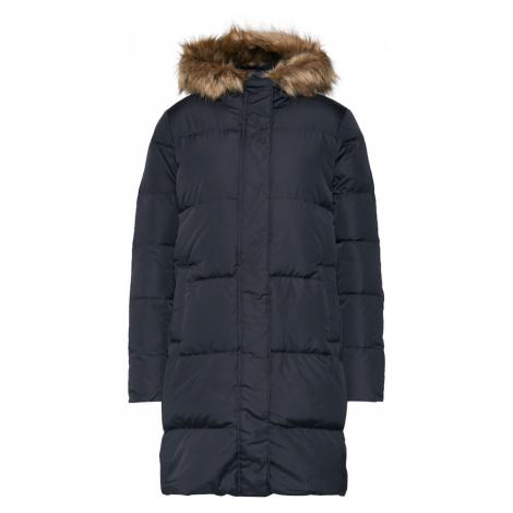 GAP Zimný kabát 'V-LONG DOWN PUFFER'  čierna