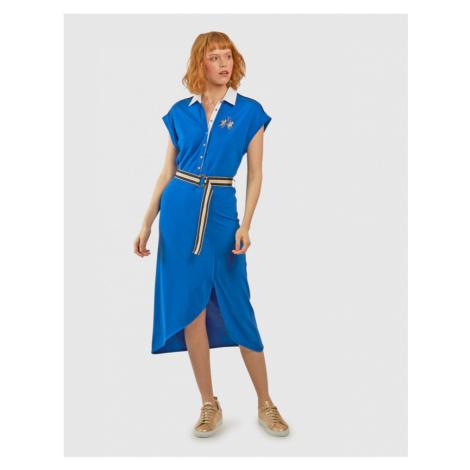 Šaty La Martina Woman Co Modal Piquet Dress