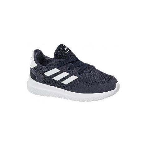 Tmavomodré detské tenisky Adidas Archivo Inf s elastickými šnúrkami