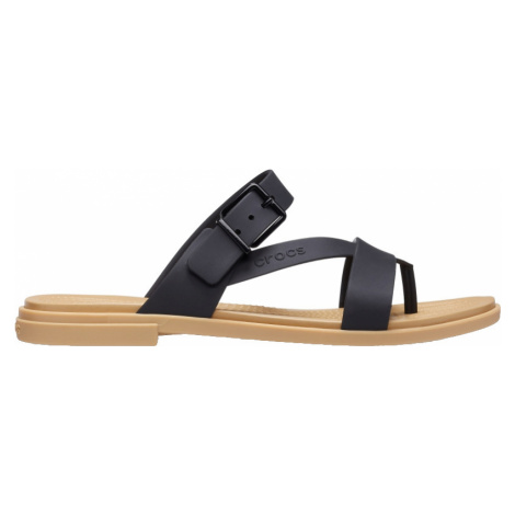 Crocs Dámske šľapky Crocs Tulum Toe Post Sandal W Black / Tan 206108-00W 38-39