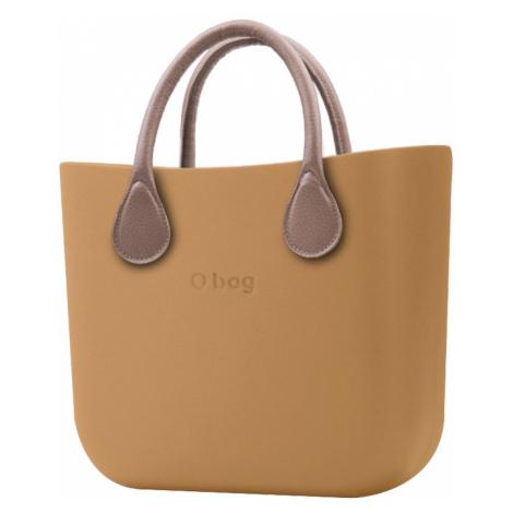 O bag kabelka MINI s krátkou koženkou Tortora