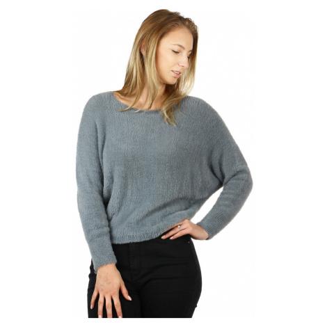 Dámsky chlpatý sveter s netopierými rukávmi