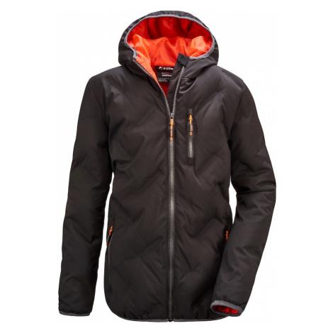 KILLTEC Outdoorová bunda 'Lynge'  čierna / oranžová