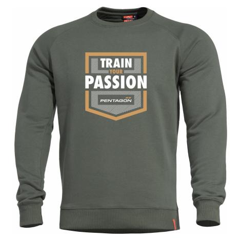 Mikina Hawk Train Your Passion PENTAGON® - zelená – Zelená