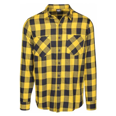 Pánska flanelová košeľa Wasp žltá Urban Classics