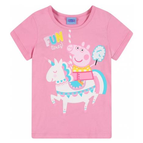 Peppa Pig Tričko  ružová / biela / svetloružová / nebesky modrá / žltá