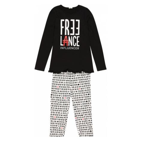 UNITED COLORS OF BENETTON Pyžamo  čierna / biela / červená