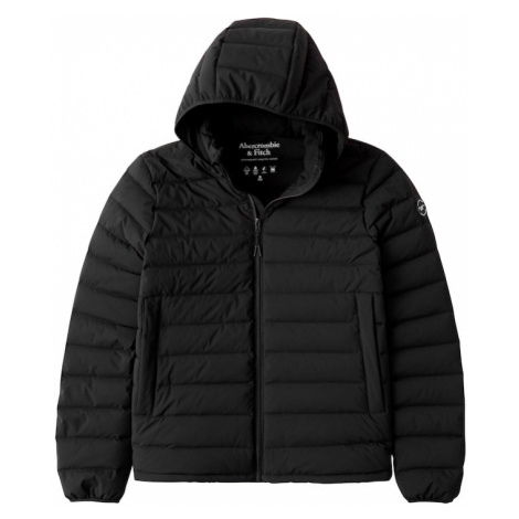 Abercrombie & Fitch Prechodná bunda  čierna