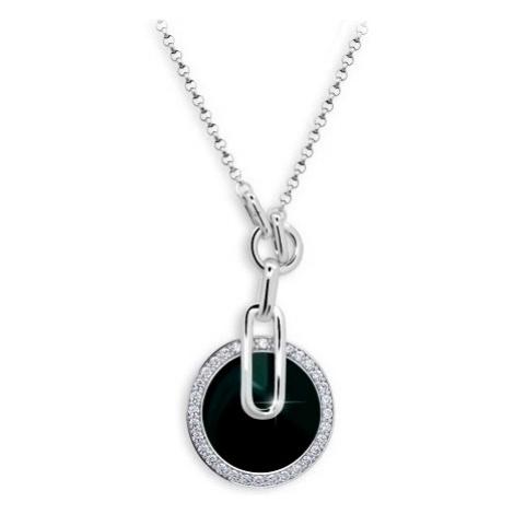 Modesi Originálne strieborný náhrdelník so zirkónmi JA51474CZ