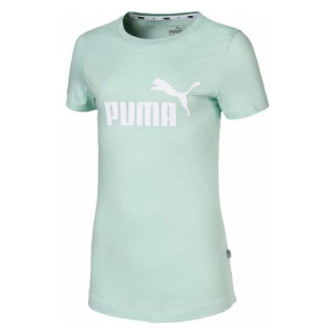 Puma ESS LOGO TEE G svetlo zelená - Dievčenské športové tričko