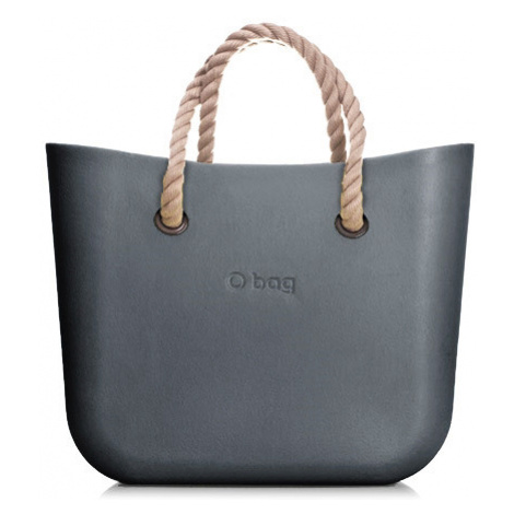 Obag mini grafite s krátkym povrazom natural O bag