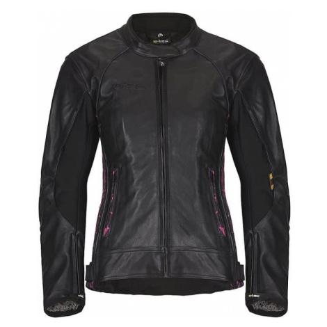 Dámska kožená moto bunda W-TEC Caronina NF-1174 Farba čierno-ružová
