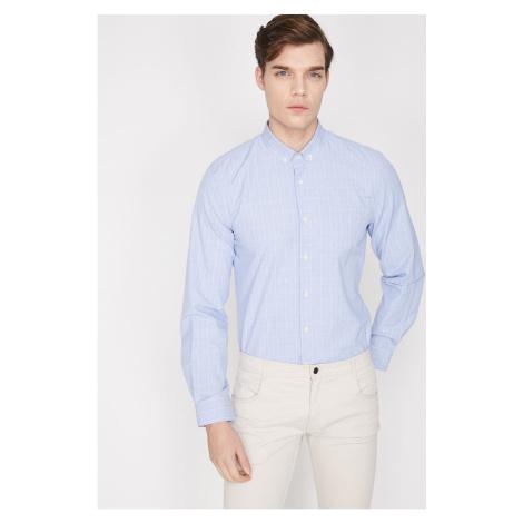 Koton Men's Blue Plaid Shirt