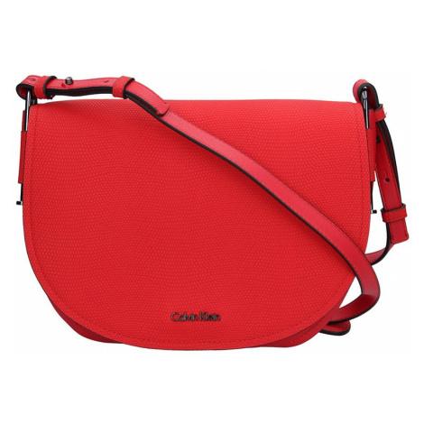 Dámska crossbody kabelka Calvin Klein Arch Large Saddle - červená