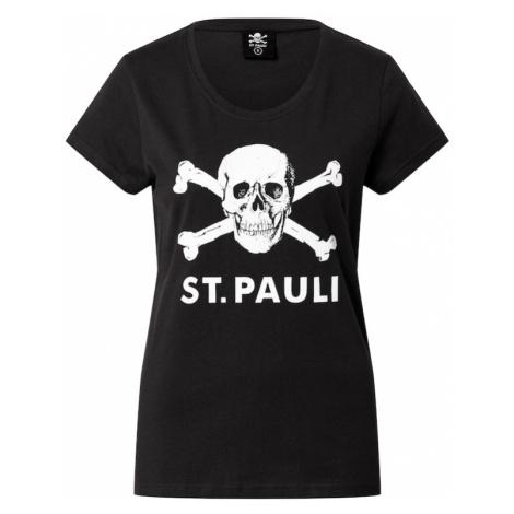 FC St. Pauli Tričko 'Totenkopf'  čierna / biela